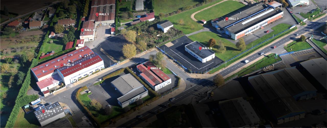vue aérienne site d'exploitation